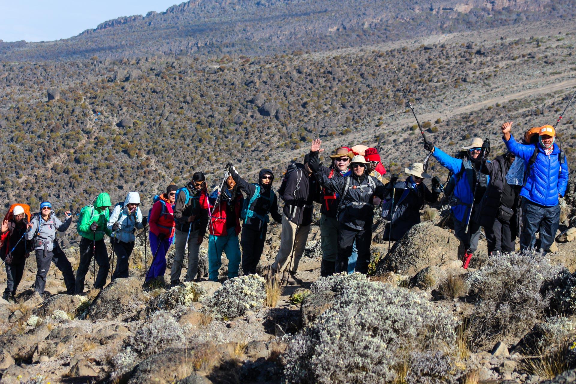 7 Days Rongai Route Climbing